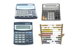 Calculators and abacus Stock Photo