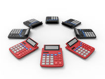 Calculators array Royalty Free Stock Image