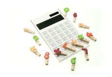 Calculators and creative color clip Royalty Free Stock Photos