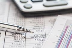 Calculators en statistk royalty-vrije stock foto