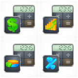 Calculators & finance symbols Stock Photo