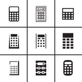 Calculators icons set Royalty Free Stock Images
