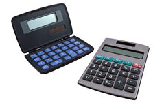Calculators with a solar battery Royalty Free Stock Images