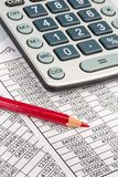 Calculators and statistk Stock Photography