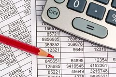 Calculators and statistk Royalty Free Stock Photo