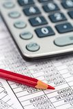 Calculators and statistk Royalty Free Stock Image