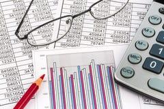 Calculators and statistk Stock Image