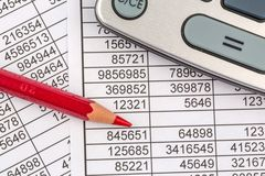 Calculators and statistk Stock Photo