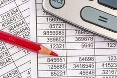 Calculators and statistk Stock Photo