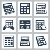Calculators vector icons Stock Photos