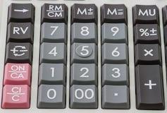 Calculatorstootkussen Royalty-vrije Stock Foto's