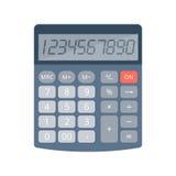 Calculatrice électronique de bureau et d'école Photo stock