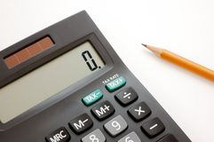 Calculatrice 1 Images stock