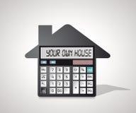 Calculatrice - achat d'une maison Image libre de droits