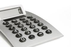 Calculatrice avec l'affichage Photographie stock libre de droits