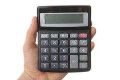 Calculatrice blanc avec des chemins de découpage Photographie stock libre de droits