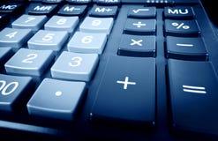 Calculatrice bleue image stock