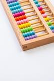 Calculatrice chinoise avec les perles colorées - plan rapproché Photo de concept Image libre de droits