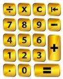 Calculatrice d'or illustration de vecteur