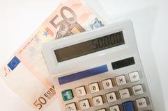 Calculatrice d'argent Photo libre de droits