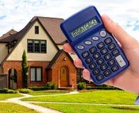 Calculatrice d'hypothèque Image libre de droits