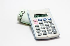 Calculatrice d'investissement Image libre de droits