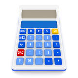 Calculatrice d'isolement sur le blanc Images stock