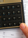 Calculatrice de bénéfice Photo stock