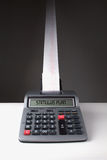 Calculatrice de fête de dépense de plan de stimulus Photo libre de droits