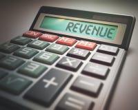 Calculatrice de revenu Images stock
