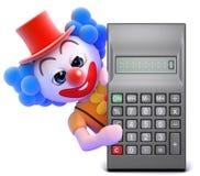calculatrice du clown 3d Images libres de droits