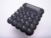 Calculatrice en caoutchouc noire 2 photo stock