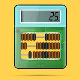 Calculatrice et abaque dans un Illustration de Vecteur