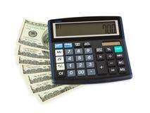 Calculatrice et argent Image libre de droits