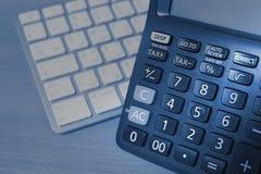 Calculatrice et clavier Images libres de droits