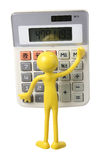 Calculatrice et figure miniature Image stock