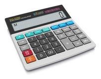 Calculatrice de bureau Photographie stock libre de droits