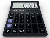 Calculatrice noire 3D Photo libre de droits