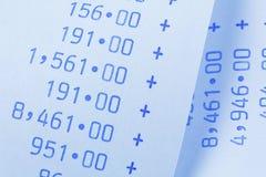 Calculatrice pour des coûts, charges, produits et Images stock