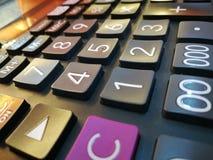 Calculatrice pour les nouveaux instants voyants les gentils images libres de droits