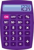 Calculatrice pourpre Image libre de droits
