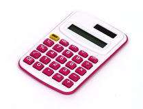 Calculatrice rose Photos libres de droits