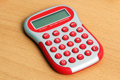 Calculatrice rouge Photographie stock