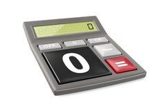Calculatrice seulement avec zéro et sans illustration stock