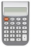 Calculatrice sur le fond blanc Photo libre de droits