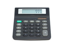 Calculatrice sur le fond blanc Photographie stock
