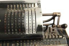 Calculatrice très vieille Photos stock