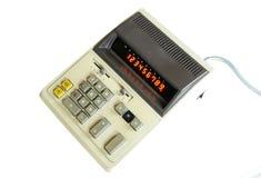 Calculatrice très vieille de vintage avec l'affichage de lampe Photos stock
