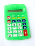 Calculatrice verte Photo stock