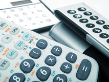 Calculatrices Photo stock